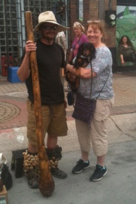 Didgeridoo guy and us.